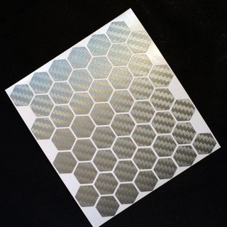 DIY Deko-Sticker Hexagon silbern carbon 3D