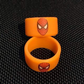 Silikon Vape Band Spiderman - TriColor -12mm Höhe - 18-23mm Durchmesser - orange