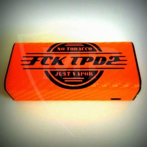 Aufkleber FCK TPD2 - schwarz glänzend - 15x9cm