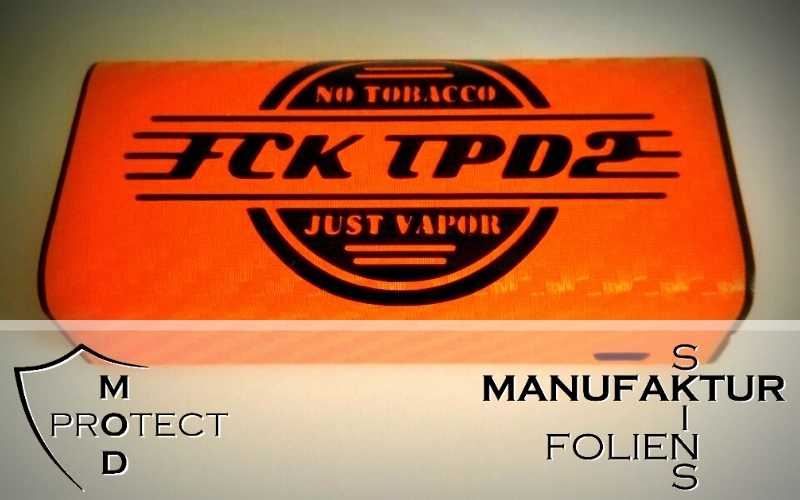 MODprotect FCK TPD2 Retro Sticker in Cuboid Größe