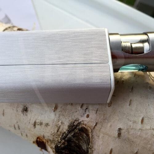 Komplett-Skin für Joyetech Evic VTC Mini - silbern brushed Metal 3D